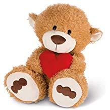 Osito de peluche marrón con corazón