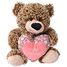Osito Te Trend marrón con corazón rosa estampado