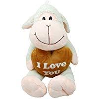 Peluche oveja blanca con corazón marrón I Love You