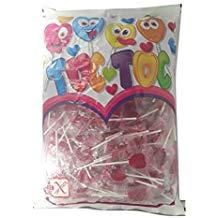 200 piruletas de corazones