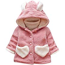 Abrigo bebé rosa con capucha