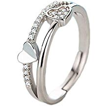 Anillo ajustable color plata