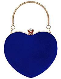 Bolso de mano gamuza azul