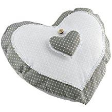 Cojín romántico gris y blanco