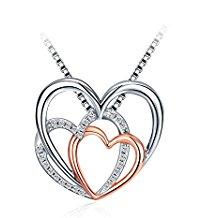 Collar plata 3 corazones