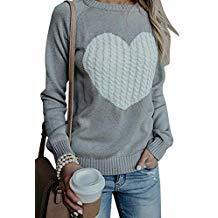 Jersey sudadera gris con corazón