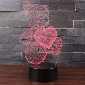Lámpara 3D oso