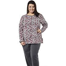 Pijama talla grande estampado de corazones