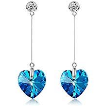 Pendientes cristal azul Swarovski