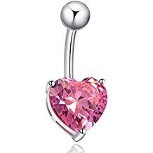Piercing corazón rosa