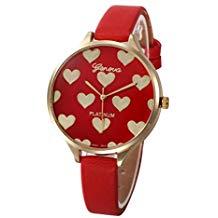 Reloj corazones rojos