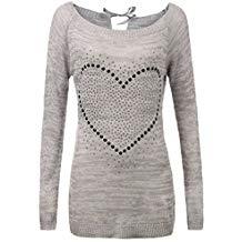 Suéter largo de punto mujer