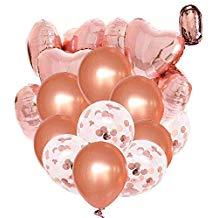 Decoración globos Oro rosa