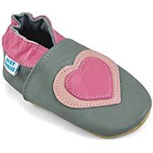 Zapatos bebé cuero gris