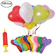 100 globos multicolor