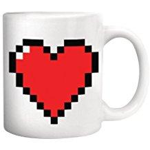 taza corazón rojo