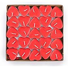 50 velas corazones