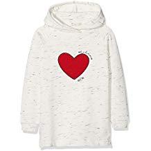 vestido niña blanco con corazón rojo