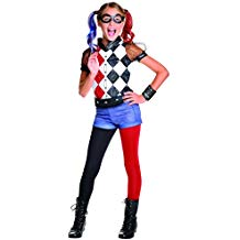 Disfraz Harley Quinn niña pantalones cortos