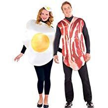 Disfraz pareja huevo y beicon