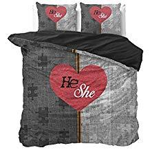 Juego de cama 2 plazas corazones