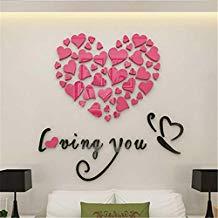 Pegatinas de pared corazones