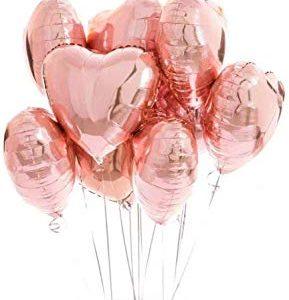 Globos metálicos rosas