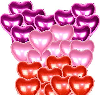 Globos metalicos de corazones