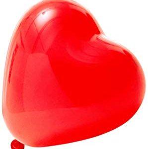 Globos rojos de corazones