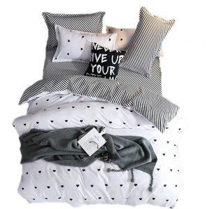 Conjunto cama blanco y negro